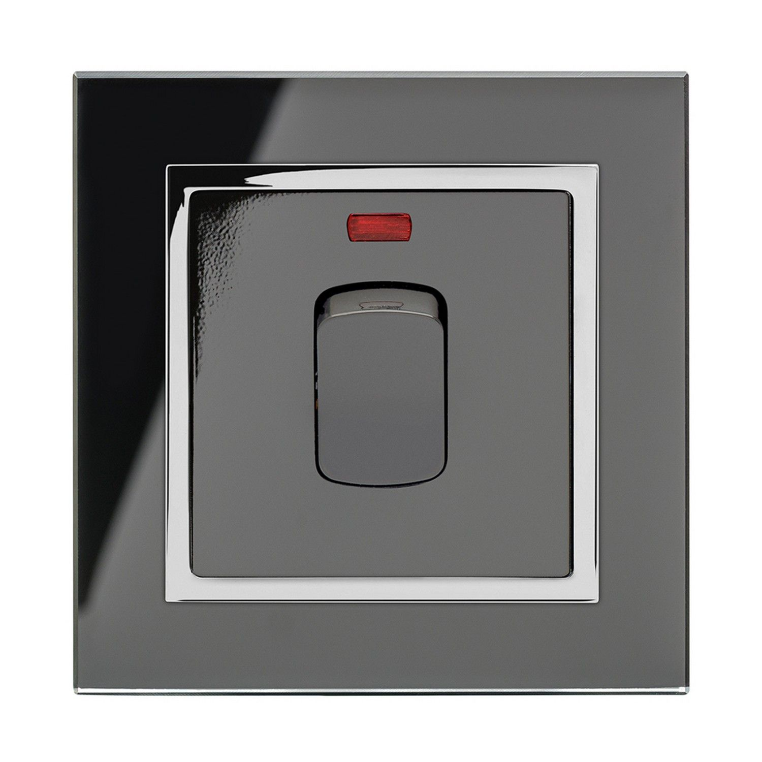 Retrotouch 20 Amp Double Pole Heater Switch Black Glass Ct